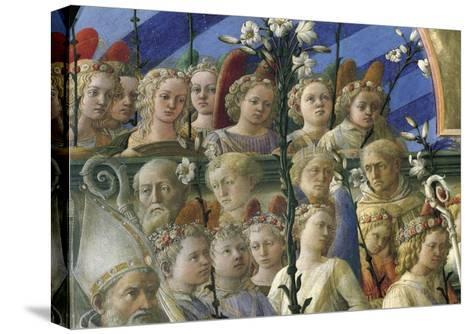 Incoronazione Maringhi or Coronation of Virgin-Filippo Lippi-Stretched Canvas Print
