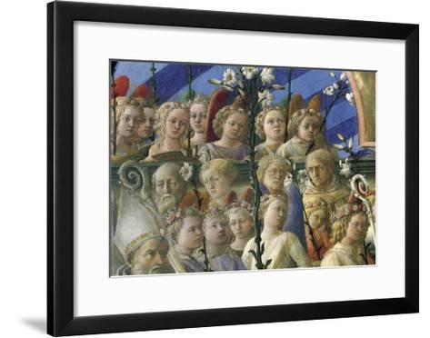 Incoronazione Maringhi or Coronation of Virgin-Filippo Lippi-Framed Art Print