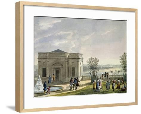 Architectural Plan Seen from Below-Pierre-Francois Fontaine-Framed Art Print