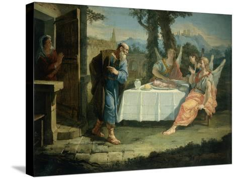 Abraham Receives Announcement of Birth of Isaac-Francesco Fontebasso-Stretched Canvas Print