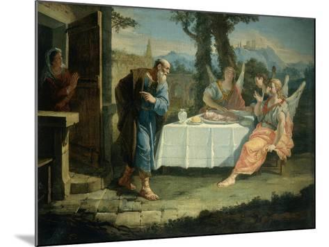 Abraham Receives Announcement of Birth of Isaac-Francesco Fontebasso-Mounted Giclee Print