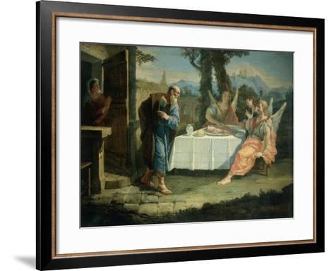 Abraham Receives Announcement of Birth of Isaac-Francesco Fontebasso-Framed Art Print