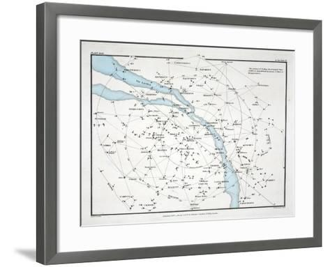 Map Showing the Principal Stars Which are Visible in Great Britain-Alexander Jamieson-Framed Art Print