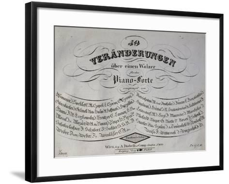 Title Page of Collection of Sonatas for Piano-Franz Liszt-Framed Art Print