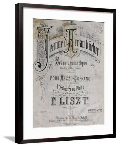 Title Page of Score for Joan of Arc at Stake-Franz Liszt-Framed Art Print