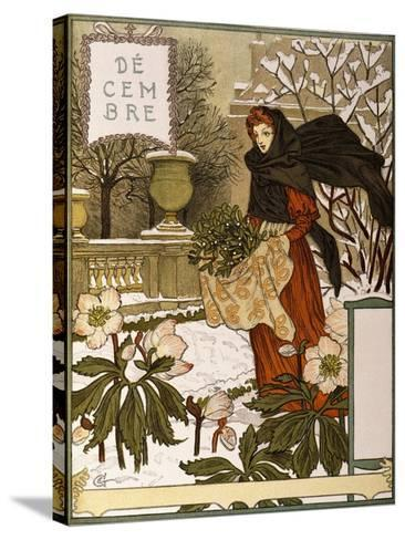 December, Illustration from the Fine Art Portofolio 'Le Mois', 1896-Eugene Grasset-Stretched Canvas Print