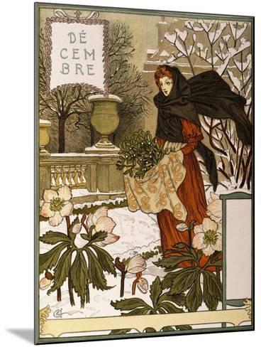 December, Illustration from the Fine Art Portofolio 'Le Mois', 1896-Eugene Grasset-Mounted Giclee Print