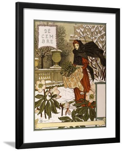 December, Illustration from the Fine Art Portofolio 'Le Mois', 1896-Eugene Grasset-Framed Art Print