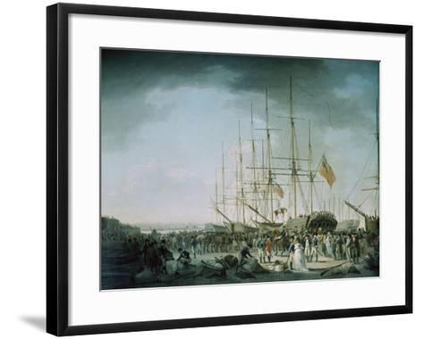 Embarkation of Troops at Debtford in 1793-Francis Holman-Framed Art Print