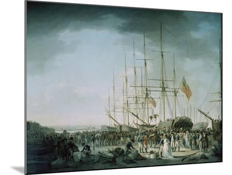 Embarkation of Troops at Debtford in 1793-Francis Holman-Mounted Giclee Print
