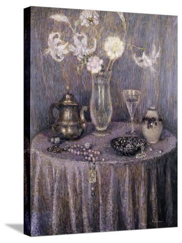 The Table, Gray Harmony; La Table, Harmonie Grise, 1927-Henri Eugene Augustin Le Sidaner-Stretched Canvas Print