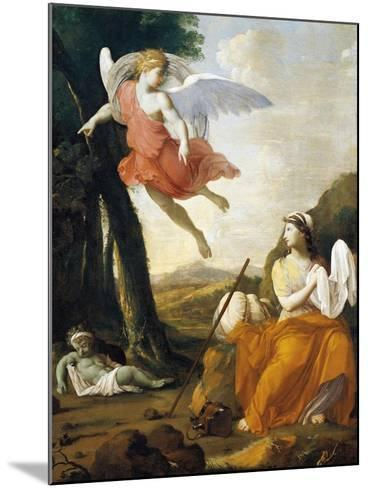 Hagar and Ishmael Saved by an Angel-Eustache Le Sueur-Mounted Giclee Print