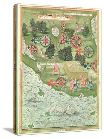 Fol.54V Map of Florida, from 'Cosmographie Universelle', 1555-Guillaume Le Testu-Stretched Canvas Print