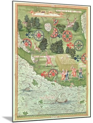 Fol.54V Map of Florida, from 'Cosmographie Universelle', 1555-Guillaume Le Testu-Mounted Giclee Print