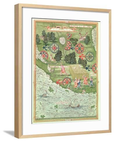 Fol.54V Map of Florida, from 'Cosmographie Universelle', 1555-Guillaume Le Testu-Framed Art Print