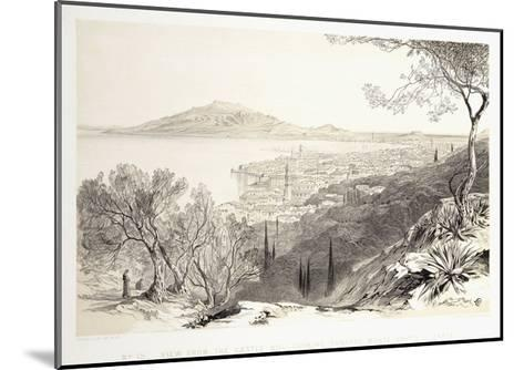 View from the Castle Hill, Looking Towards Monte Skopo, Zante, 1863-Edward Lear-Mounted Giclee Print