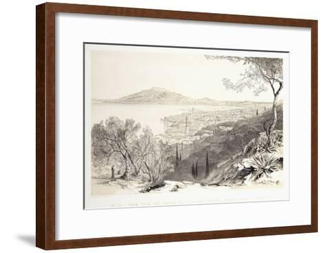 View from the Castle Hill, Looking Towards Monte Skopo, Zante, 1863-Edward Lear-Framed Art Print