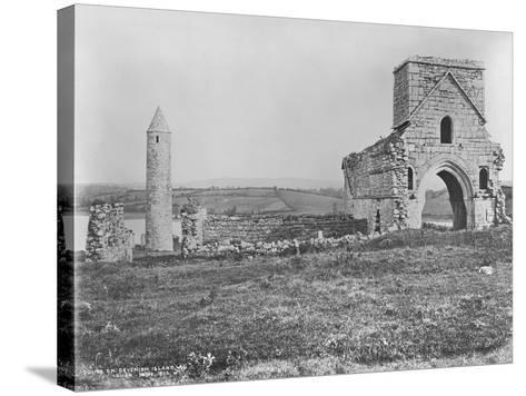 Ruins on Devenish Island, Lough Erne, Ireland, C.1890-Robert French-Stretched Canvas Print