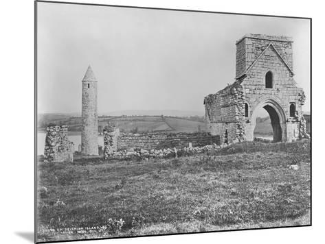 Ruins on Devenish Island, Lough Erne, Ireland, C.1890-Robert French-Mounted Giclee Print