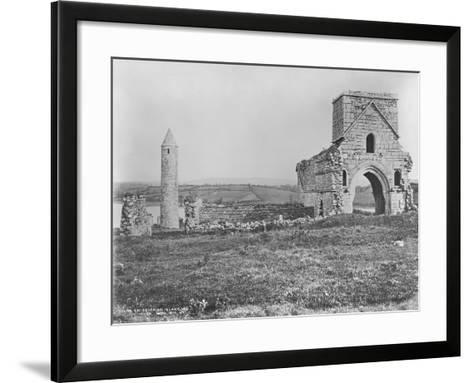 Ruins on Devenish Island, Lough Erne, Ireland, C.1890-Robert French-Framed Art Print
