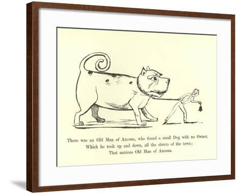 There Was an Old Man of Ancona, Who Found a Small Dog with No Owner-Edward Lear-Framed Art Print