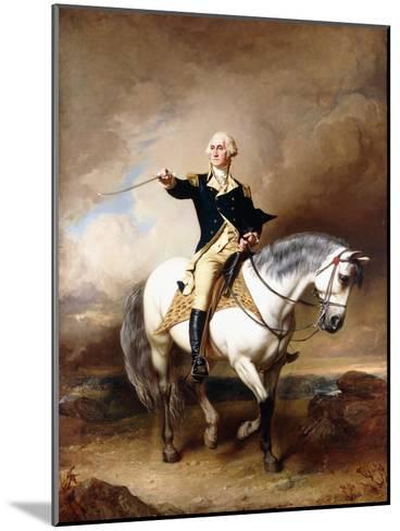Portrait of George Washington Taking the Salute at Trenton-John Faed-Mounted Giclee Print