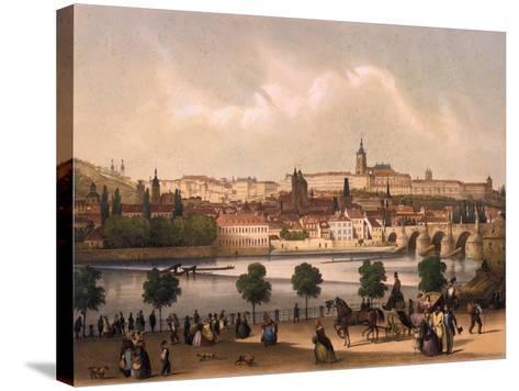 View of the Little Quarter and Prague Castle Hradcany, C.1845-Francois Joseph Sandmann-Stretched Canvas Print
