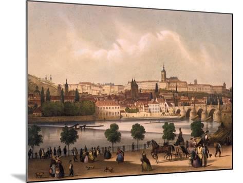 View of the Little Quarter and Prague Castle Hradcany, C.1845-Francois Joseph Sandmann-Mounted Giclee Print