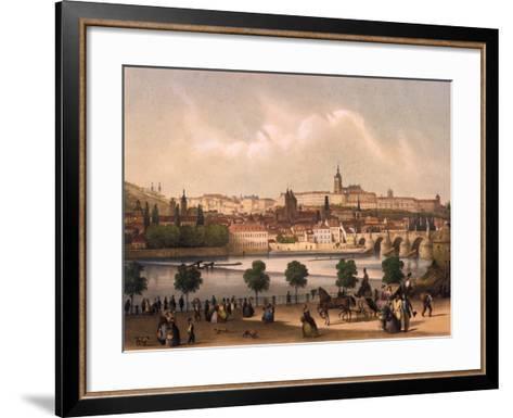 View of the Little Quarter and Prague Castle Hradcany, C.1845-Francois Joseph Sandmann-Framed Art Print