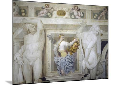 Female Figure Holding Up Caldogno Family Crest-Giovanni Antonio Fasolo-Mounted Giclee Print
