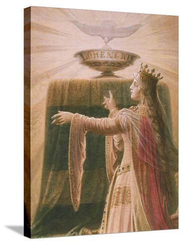 The Miracle of the Grail, from the Lohengrin Saga, Salon-Wilhelm Hauschild-Stretched Canvas Print