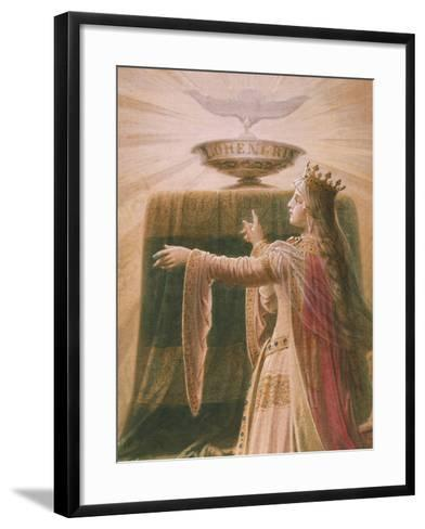 The Miracle of the Grail, from the Lohengrin Saga, Salon-Wilhelm Hauschild-Framed Art Print