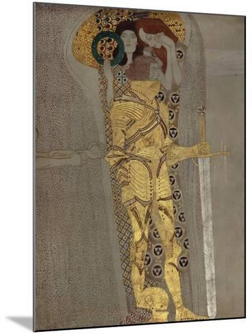 The Longing for Happiness, from the Beethoven Frieze', 1902-Gustav Klimt-Mounted Giclee Print