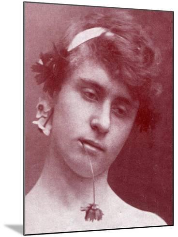 Study of a Sicilian Boy with a Flower in His Mouth, Sicily, C.1899-Wilhelm Von Gloeden-Mounted Giclee Print