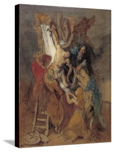 The Descent from the Cross after Rubens, Late 1760S-Thomas Gainsborough-Stretched Canvas Print