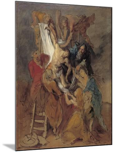 The Descent from the Cross after Rubens, Late 1760S-Thomas Gainsborough-Mounted Giclee Print