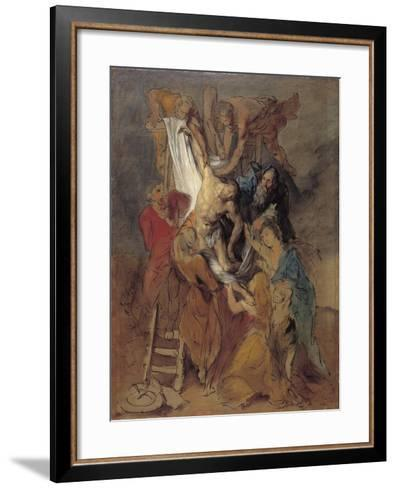 The Descent from the Cross after Rubens, Late 1760S-Thomas Gainsborough-Framed Art Print