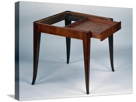 Art Nouveau Style Games Table, Open, 1925-Emile Galle-Stretched Canvas Print