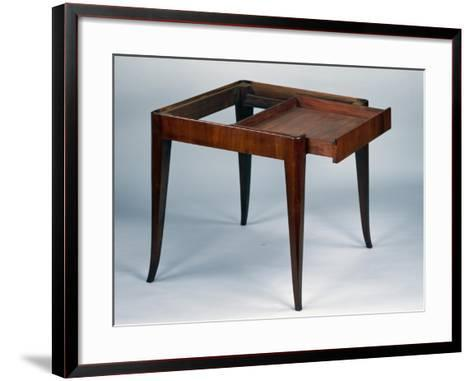 Art Nouveau Style Games Table, Open, 1925-Emile Galle-Framed Art Print
