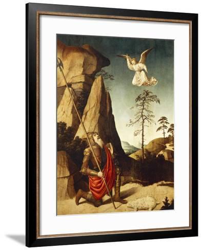 The Miracle of Fleece of Gideon, 1500-Nicolas Dipre-Framed Art Print