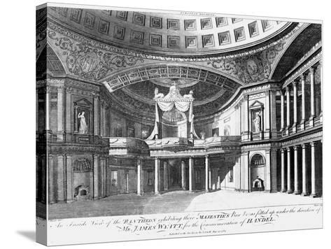 An Inside View of the Pantheon, Oxford Street, London, 1784-John Dixon-Stretched Canvas Print