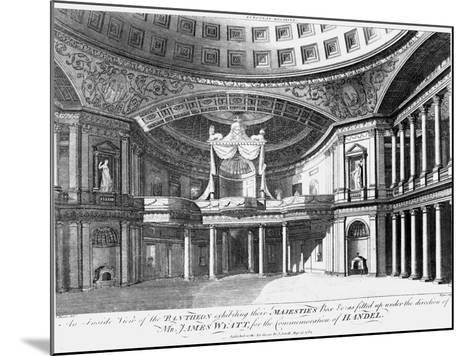 An Inside View of the Pantheon, Oxford Street, London, 1784-John Dixon-Mounted Giclee Print