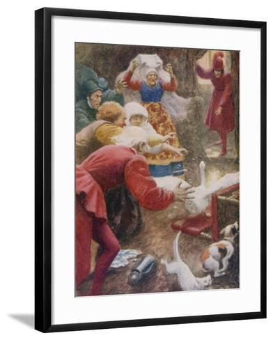 """"""" 'Go Catch the Goose! and Wring Her Neck!' She Cried""""-Arthur C. Michael-Framed Art Print"""