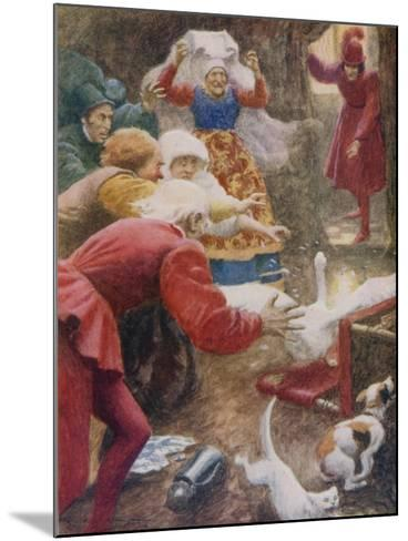 """"""" 'Go Catch the Goose! and Wring Her Neck!' She Cried""""-Arthur C. Michael-Mounted Giclee Print"""