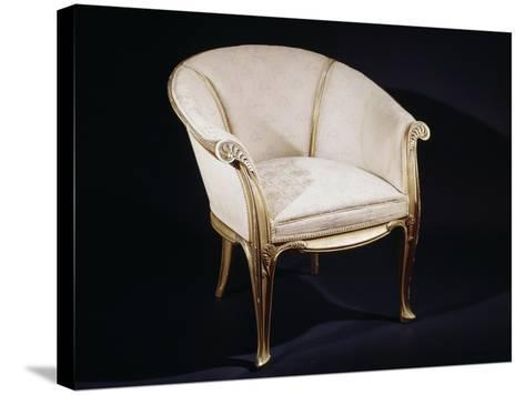 Art Nouveau Style Fougeres Armchair-Louis Majorelle-Stretched Canvas Print
