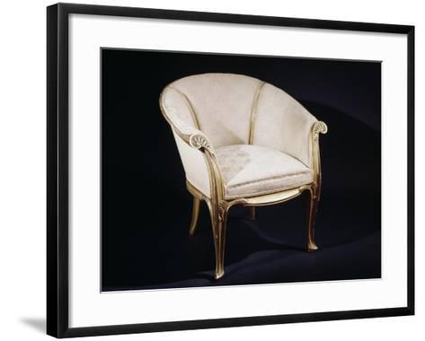 Art Nouveau Style Fougeres Armchair-Louis Majorelle-Framed Art Print