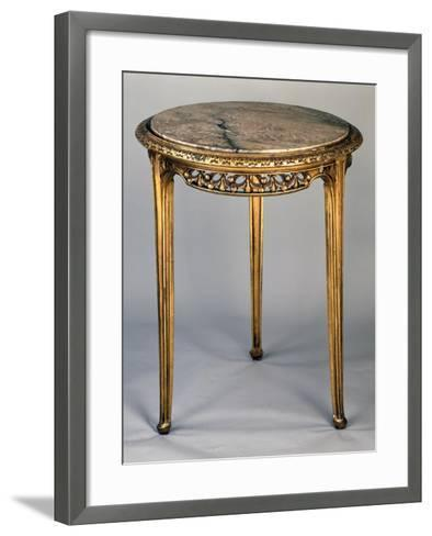 Art Nouveau Style Gueridon Three-Legged Table-Louis Majorelle-Framed Art Print