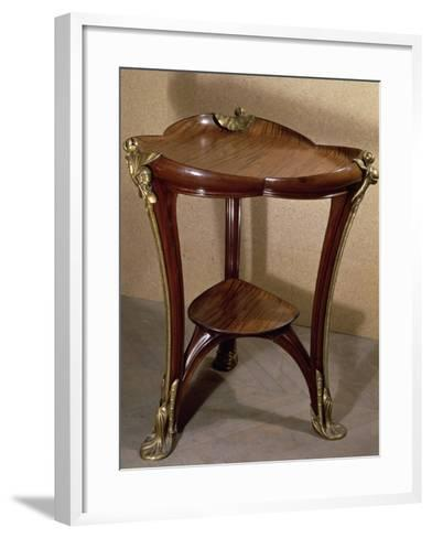 Art Nouveau Style Gueridon Three-Legged Table, 1902-Louis Majorelle-Framed Art Print
