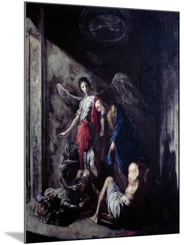 St Peter Being Freed by the Angel-Johann Heinrich Schonfeld-Mounted Giclee Print