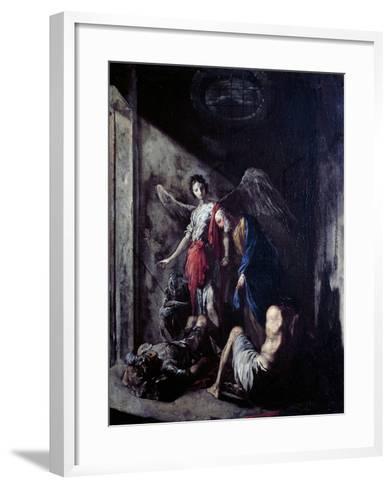 St Peter Being Freed by the Angel-Johann Heinrich Schonfeld-Framed Art Print